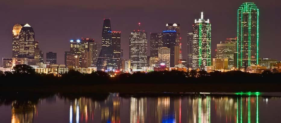 Rectangle Dallas Skyline